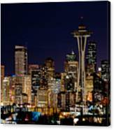 2010 Seattle Earth Hour A350 Canvas Print