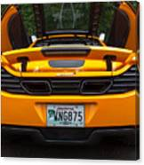 2012 Mc Laren Exhausts And Taillights Canvas Print