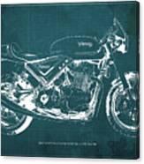 2012 norton commando 961 cafe racer motorcycle blueprint green 2012 norton commando 961 cafe racer motorcycle blueprint green background canvas print malvernweather Images