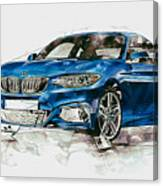 2014 B M W 2 Series Coupe With 3d Badge Canvas Print