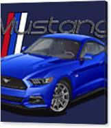 2015 Blue Mustang Canvas Print