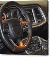2015 Dodge Challenger Srt Hellcat Interior Canvas Print
