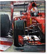 2015 Hungary Gp Ferrari Sf15t Vettel Winner Canvas Print