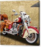 2015 Indian Chief Vintage Motorcycle - 1 Canvas Print