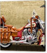 2015 Indian Chief Vintage Motorcycle - 2 Canvas Print