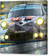 2015 Le Mans Gte-am Porsche 911 Rsr Canvas Print
