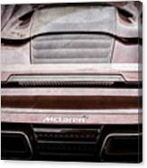 2015 Mclaren 650s Spider Rear Emblem -0011ac Canvas Print