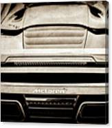 2015 Mclaren 650s Spider Rear Emblem -0011s Canvas Print