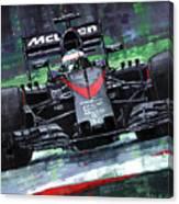 2015 Mclaren Honda F1 Austrian Gp Alonso  Canvas Print
