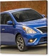 2015 Nissan Versa Sedan Canvas Print