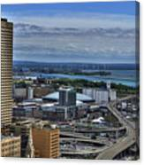 2015 View Of The Skyway And New Harbor  Canvas Print