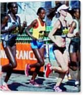 2016 Boston Marathon Winner 2 Canvas Print