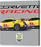 2016 Daytona 24 Hour Corvette Poster Canvas Print