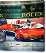 2016 Ferrari Sf16-h Vettel Monaco Gp  Canvas Print