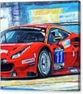 2016 Hankook 24h Epilog Brno Ferrari 488 Gt3 Winner Canvas Print