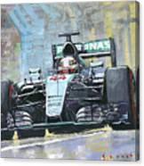 2016 Monaco Gp Mercedes Amg Petronas Hamilton  Canvas Print