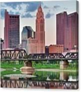 2017 Columbus Panoramic Canvas Print