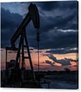 2017_08_midkiff Tx_sunset Pump Jack 7 Canvas Print