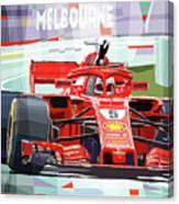 2018 Australian Gp Ferrari Sf71h Vettel Winner  Canvas Print