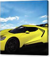 2018 Ford Gt At The Track Canvas Print