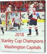 2018 Stanley Cup Champions Washington Capitals Canvas Print