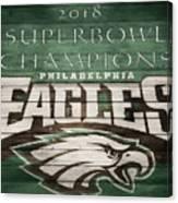 2018 Superbowl Eagles Barn Wall Canvas Print