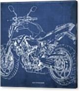 2018 Yamaha Mt07,blueprint,blue Background,fathers Day Gift, 2018 Canvas Print