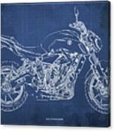 2018 Yamaha Mt07,blueprint,blue Background,fathers Day Gift Canvas Print