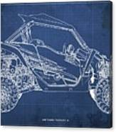 2018 Yamaha Wolverine X4 Blueprint Blue Background Gift For Dad Canvas Print