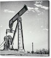 2018_04_orla Texas_broken Pump Jack 1 Canvas Print