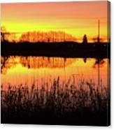 2018_2_12  Vivid Sunset Reflection-4291 Canvas Print
