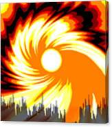205 - Poster Climate Change  2 ... Burning Summer  Sun  Canvas Print