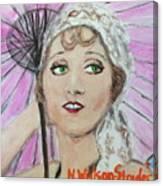 20's Glamour, Parasol Canvas Print