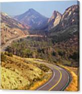 212308 Road To Sheep Creek Canyon Canvas Print
