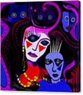 215   Mother And Child  Clowns A  Canvas Print