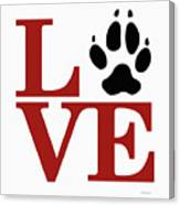 Love Claw Paw Sign Canvas Print