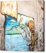 Mural Painting In Saludecio Canvas Print