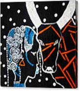 Nuer Bride - South Sudan Canvas Print