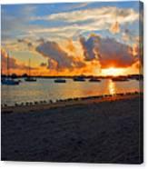 22- Sunset At Seagull Beach Canvas Print