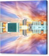 22nd Century Floating Cities Sunrise 01 Canvas Print