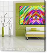 An Example Of Modern Art By Rolf Bertram In An Interior Design Setting Canvas Print