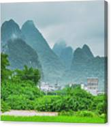 Karst Mountains Rural Scenery Canvas Print