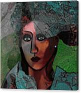 239 - Young Woman In Green Dress 2017 Canvas Print