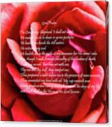 23rd Psalm Canvas Print