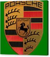 Porsche Label Canvas Print