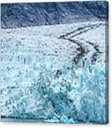 Sawyer Glacier At Tracy Arm Fjord In Alaska Panhandle Canvas Print