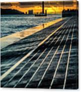 25 De Abril Bridge In Lisbon. Canvas Print