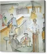 Italians  Ellis Island  Prohibition Album Canvas Print