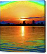 25- Psychedelic Sunrise Canvas Print