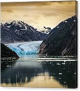 Sawyer Glacier At Tracy Arm Fjord In Alaska Panhandle Canvas Print